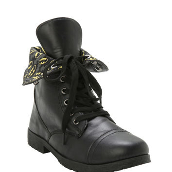 DC Batman Logos Combat Boot