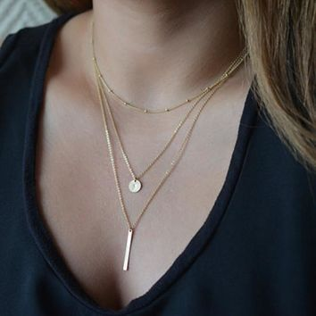 Jewelry Stylish New Arrival Shiny Gift Accessory Hot Sale Chain Metal Necklace [7298061319]