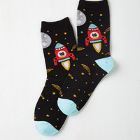 Cosmic Cute for the Stars! Socks Size OS by ModCloth