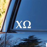 Chi Omega Car Decal | Chi Omega Car Sticker | Chi Omega Sorority | Chi Omega Laptop Decal | Greek Car Decal | Greek Car Sticker | 168