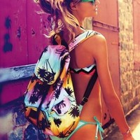 Victoria's Secret PINK Backpack Palm Trees SOLD OUT
