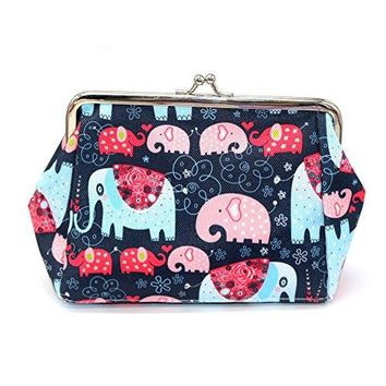 Kigurumi Coin Purse Elephant For Women and Girl Clutch Pouch Wallet ValueBlue