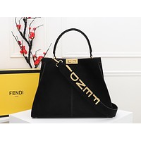 FENDI WOMEN'S LEATHER Peekaboo X-Lite HANDBAG SHOULDER BAG