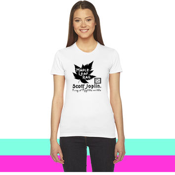 Maple Leaf Rag by Scott Joplin_ women T-shirt
