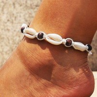 Mens Puka Shell Ankle Bracelet