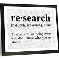 Research Definition Funny Typography Wall Plaque
