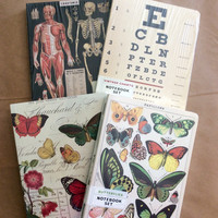 Vintage Print Notebook Sets