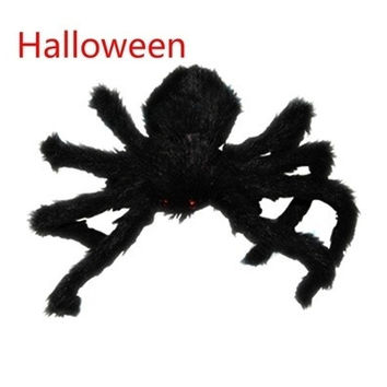 Black Spider Halloween Decoration Haunted House Prop Indoor Outdoor Wide