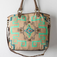 LAREDO EMBELLISHED CANVAS TOTE