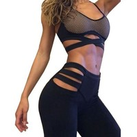 PEAPON Sexy Hollow Out Leggings Women Fitness Workout Leggings High Waist Women legging Plus Size Leggins Activewear Jeggings Legins