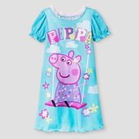 Toddler Girls' Peppa Pig Swing Nightgown - Blue