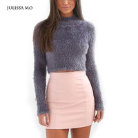 Women Sweaters and Pullovers 2016 Turtleneck Long Sleeve Winter Tops Casual Fluffy Mohair Sweater Sexy Warm Jumper Femme