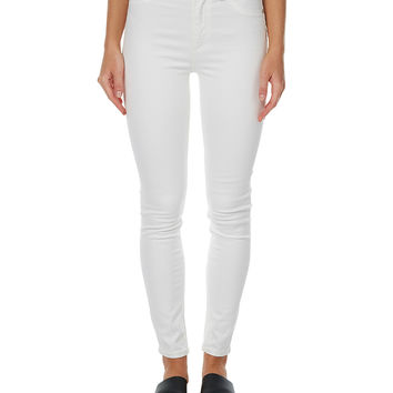CHEAP MONDAY HIGH RISE SPRAY ON WOMENS JEAN - WHITE