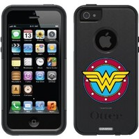 Coveroo Wonder Woman Design on OtterBox Commuter Series Case for iPhone 5/5s - Retail Packaging - Black
