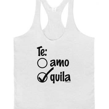Tequila Checkmark Design Mens String Tank Top by TooLoud