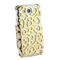 Gold Electroplating Hollow Pattern Hard Case for Samsung Galaxy S3 i9300