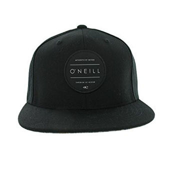 O'Neill Men's Turnover Hat, Black with Yellow Leopard , One Size