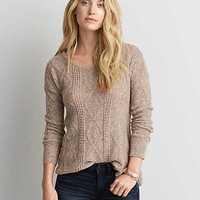AEO Textured Jegging Sweater , Burgundy