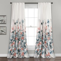 Wildflower Garden Room Darkening Window Curtains