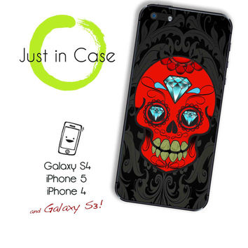 Samsung Galaxy 3 SUGAR SKULL iphone 5 case // Catrina iphone 4s case candy // mexican sugar skull galaxy s3 iphone case tattoo design