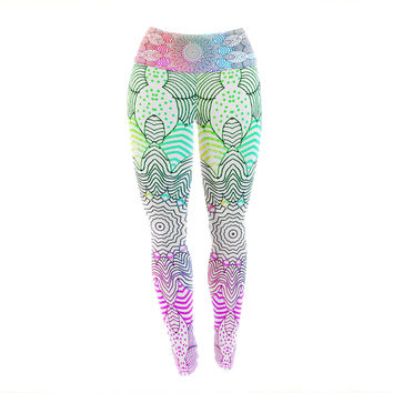"Monika Strigel ""Rainbow Dots"" Yoga Leggings"