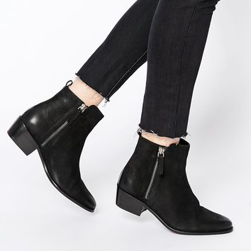 Dune Indiana Zip Leather Ankle Boots