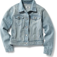 Light-Wash Denim Jacket for Girls