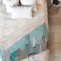 Brian Buckley Seattle City Fleece Throw Blanket