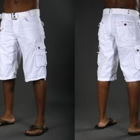 X-Ray Men's Cargo Shorts - Color White