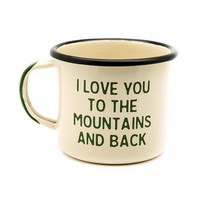 Mountain Lovin' Enamel Camp Mug – Village and Wild