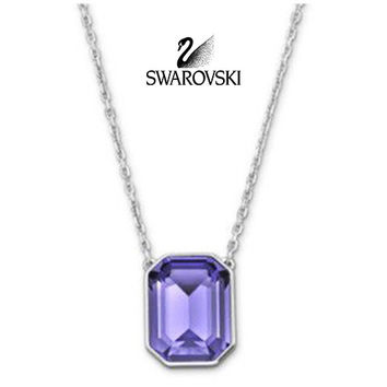 Swarovski Tanzanite Crystal Pendant Necklace VINI #5007824 New
