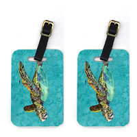 Pair of Turtle Luggage Tags