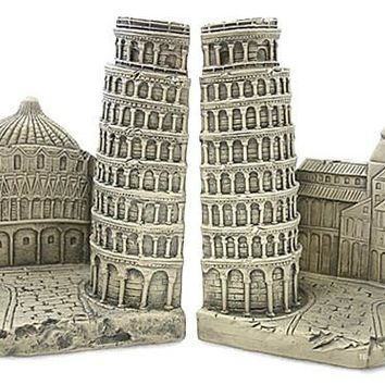 Leaning Tower of Pisa Famous Monuments Bookends 7H - 5088