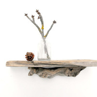 Driftwood Trinket Shelf No 23 by mosswoodshop on Etsy