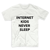Internet Kids Never Sleep Unisex Graphic Tshirt, Adult Tshirt, Graphic Tshirt For Men & Women