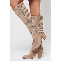 Stop Bragging Boots (Light Taupe)