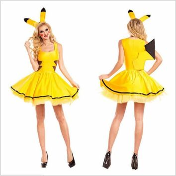 Halloween Pikachu Animal Role Playing Elf Costumes Clothing Cosplay Bees Clothing Angel