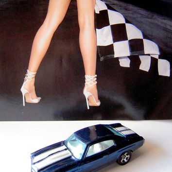 Hotwheels blue 1970 model Chevy Chevelle toy car collectible, blue Chevy, race car, photo prop, car collectors, diorama, Hotwheels.