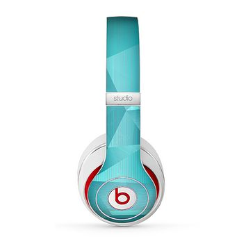 The Blue Geometric Pattern Skin for the Beats by Dre Studio (2013+ Version) Headphones