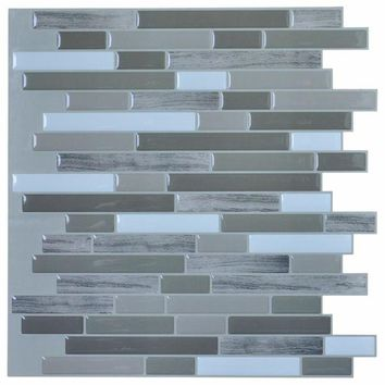 ONETOW Stick Backsplash Tiles for Bathroom and Kitchen 12''x12'' Peel and Stick Tile with 6 Pieces