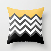 Color Blocked Chevron 6 Throw Pillow by Josrick