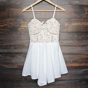 playdate romper - white