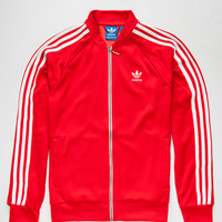 Adidas Originals Superstar Mens Track Jacket Red  In Sizes