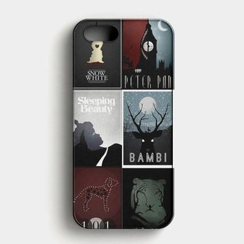 Minimalist Disney Film Posters iPhone SE Case