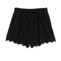 Scallop Lace Shorts