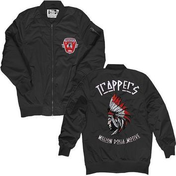 Black Bred Bomber Jacket - TRAPPERS (Jordan 11 Win Like 96)