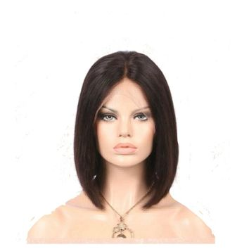 Brazilian Short Cut Bob Wig 13x6 Lace Front Human Hair Wigs With Baby Natural Black