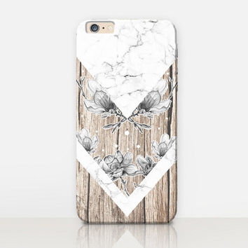Wood Marble Phone Case- iPhone 6 Case - iPhone 5 Case - iPhone 4 Case - Samsung S4 Case - iPhone 5C - Tough Case - Matte Case - Samsung
