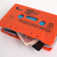 Zippered Cassette Tape Wallet  Jethro Tull  by thepickpocketstore