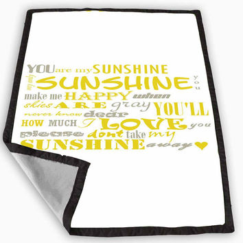 You Are My Sunshine Subway Blanket for Kids Blanket, Fleece Blanket Cute and Awesome Blanket for your bedding, Blanket fleece *